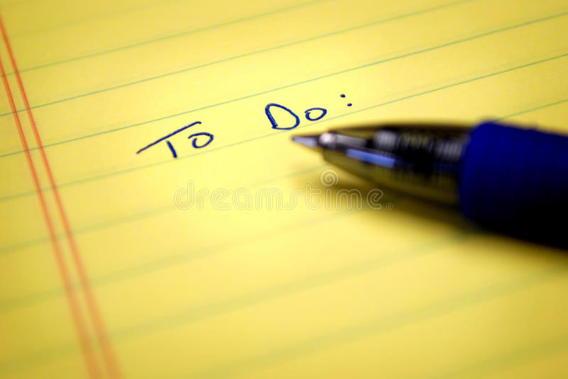 Download To Do List Stock Image - Image: 9894211