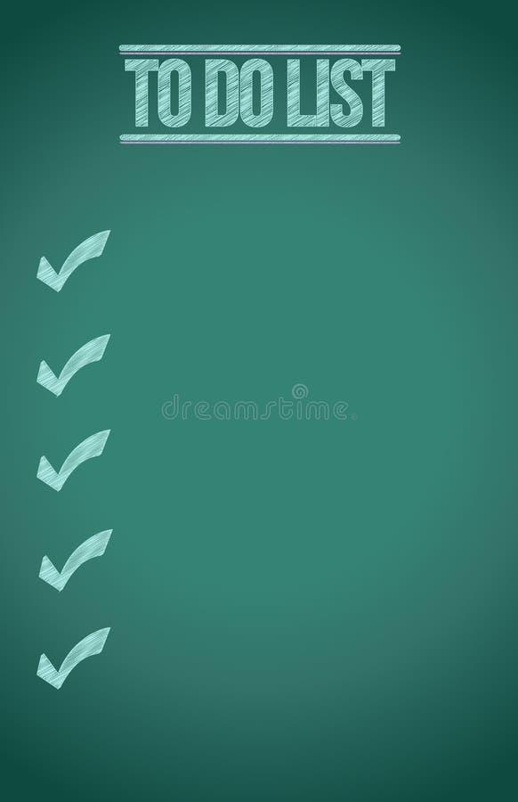 Download To do list blackboard stock illustration. Illustration of menu - 28131856