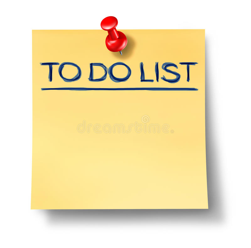 Download To Do List Blank Office Note Isolated Stock Illustration - Image: 18266082