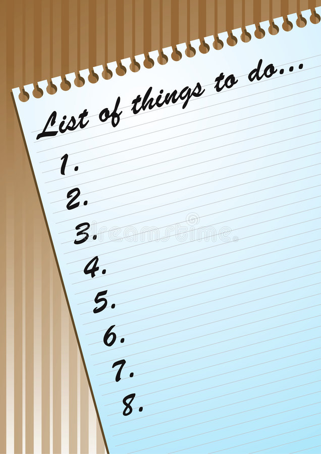 Download To-Do List On Blank Page Stock Photos - Image: 6525423
