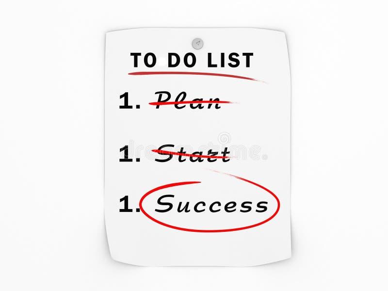 To do list business success concept