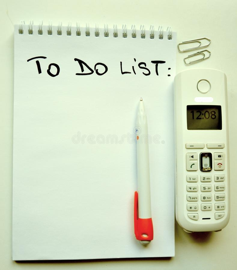 To Do List Concept Royalty Free Stock Images