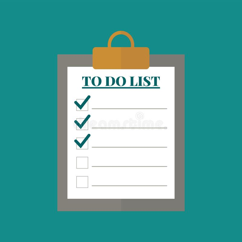 To do list concept  icon royalty free stock images