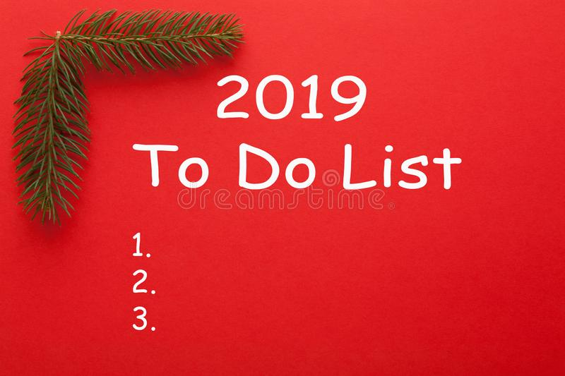 2019 To Do List royalty free stock images