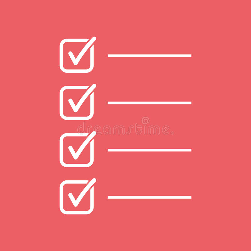 To do list icon. Checklist, task list vector illustration in fla royalty free illustration