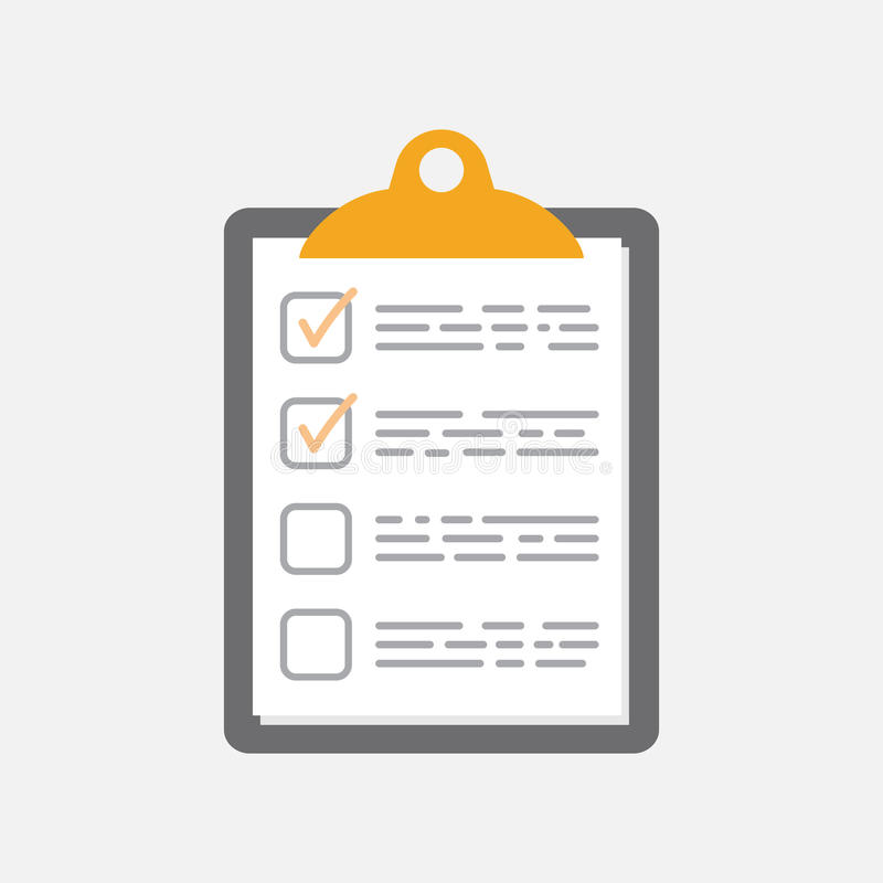 To do list icon. Checklist, task list vector illustration in fla. T style. Reminder concept icon on white background stock illustration