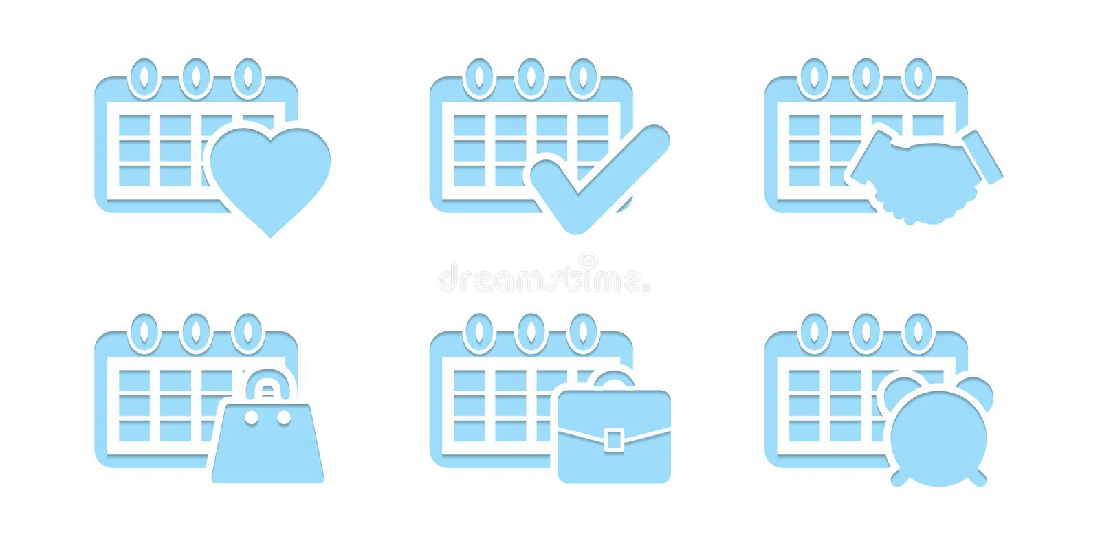 To do list icon collection concept. Office working royalty free illustration