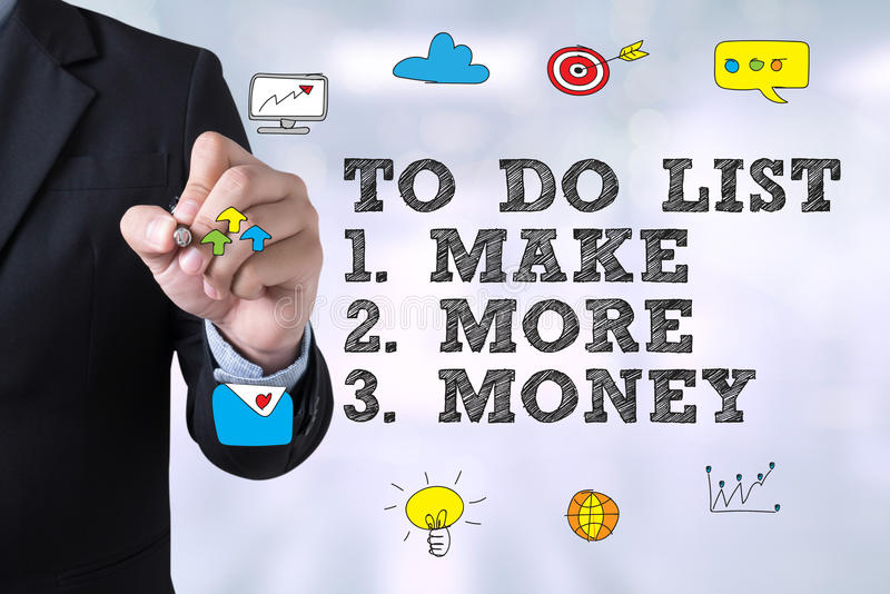 TO DO LIST - Make More Money royalty free stock photos