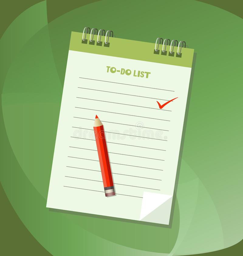 To do list or notebook icon concept. stock illustration