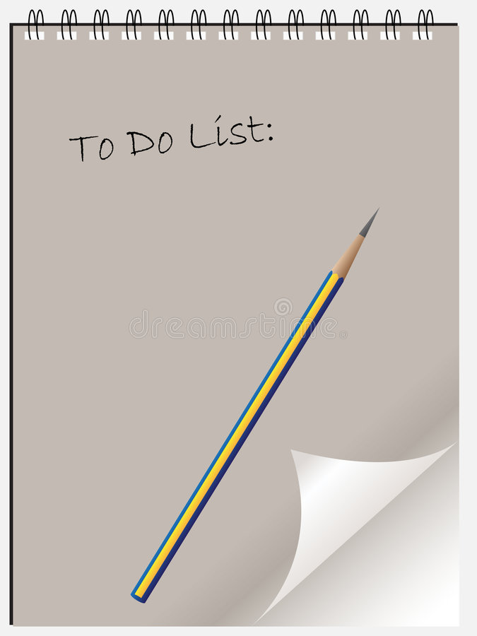 To Do List Notepad Wtih Page C Stock Photos