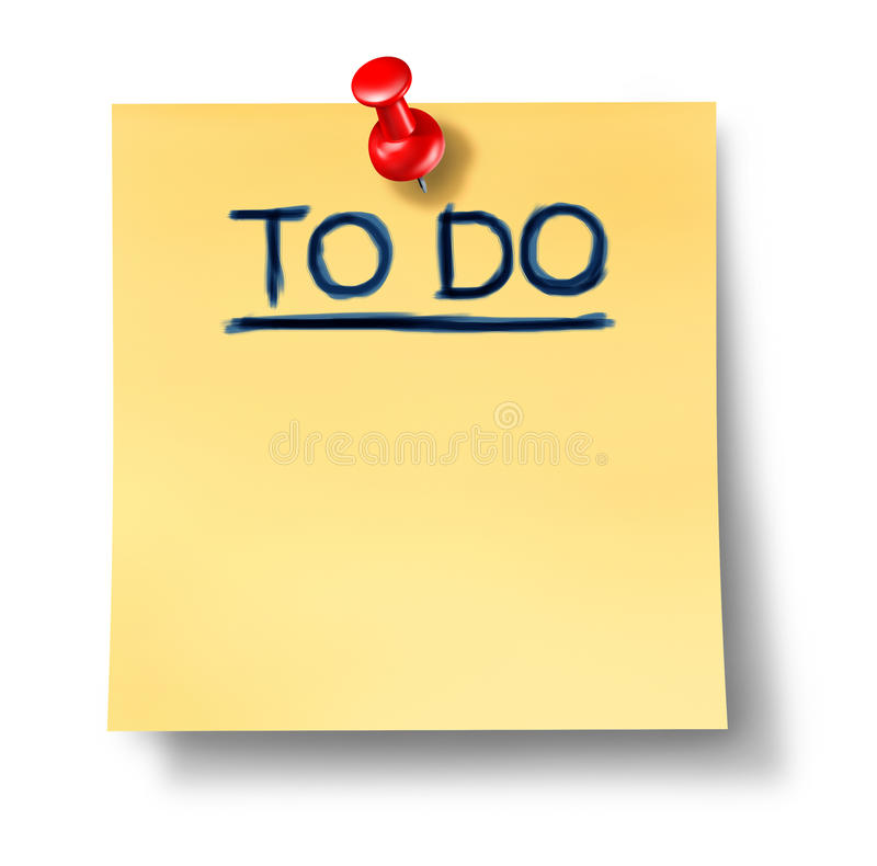 To do list office note reminder attention paper