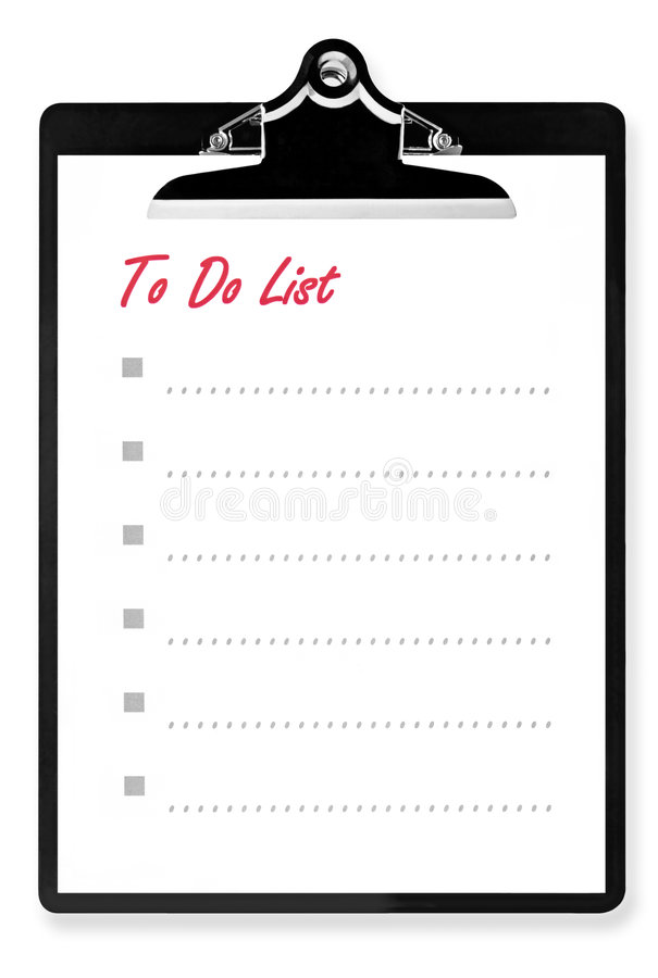 Free To Do List On Clipboard Royalty Free Stock Photography - 5762117