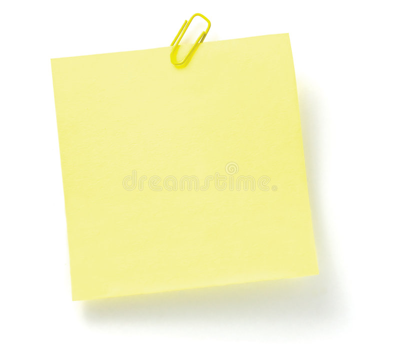 Download To-Do List with paperclip stock photo. Image of isolated - 4424186