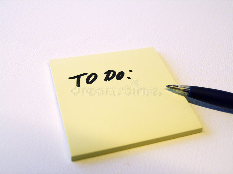 To do note royalty free stock image