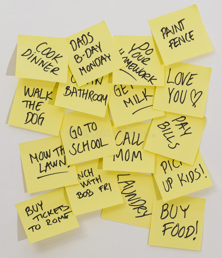 To do post it notes
