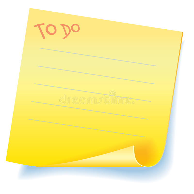 To Do - Sticker Reminder Royalty Free Stock Images