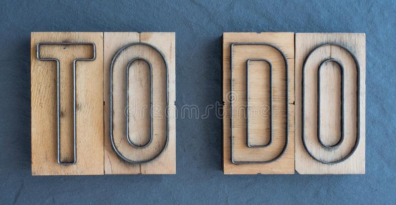 TO DO: WOODY WORLD OF WORDS royalty free stock images