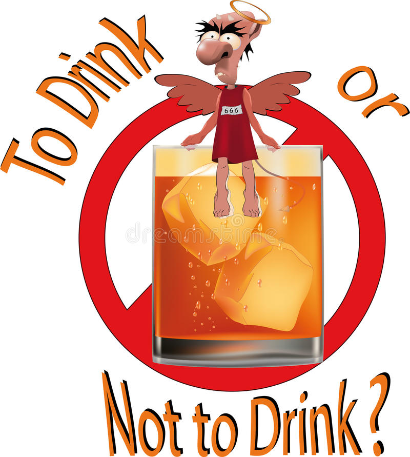Download To drink or not to drink ? stock vector. Image of drunk - 16249749