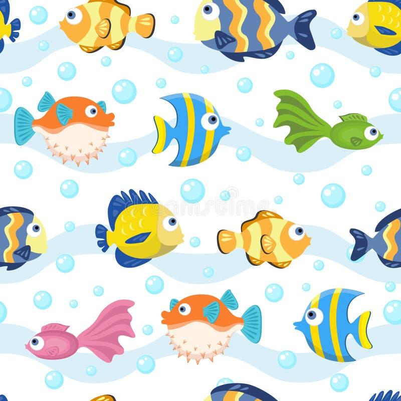 Seamless pattern with fish - vector illustration vector illustration