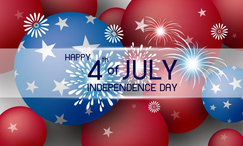 4to feliz del ejemplo del vector del diseño del fondo del día de fiesta de América del Día de la Independencia de julio libre illustration