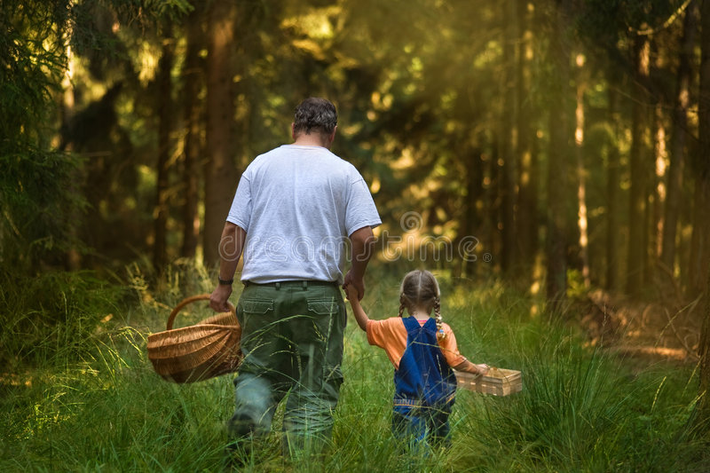 Download To go on a mushroom foray stock image. Image of family - 4441905