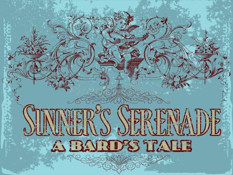 to grzesznik serenady ilustracja wektor