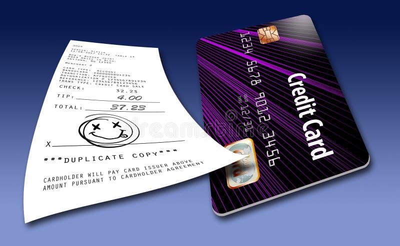 To ilustruje pomysł że wkrótce no wymagają gdziekolwiek dla kredytowej karty transakcj podpisy ilustracja wektor
