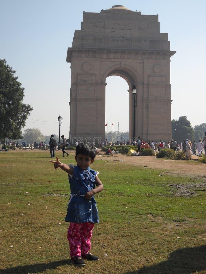 To jest India brama w India zdjęcia royalty free