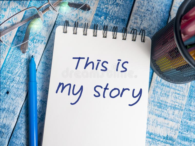 To jest mój opowieść, Motywacyjne Inspiracyjne wycena zdjęcie royalty free