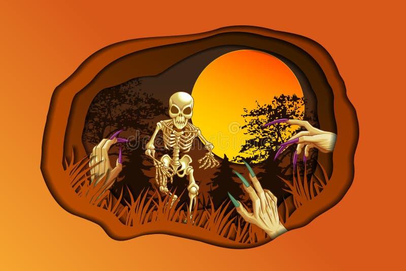 To jest obrazek dla Halloween ilustracja wektor