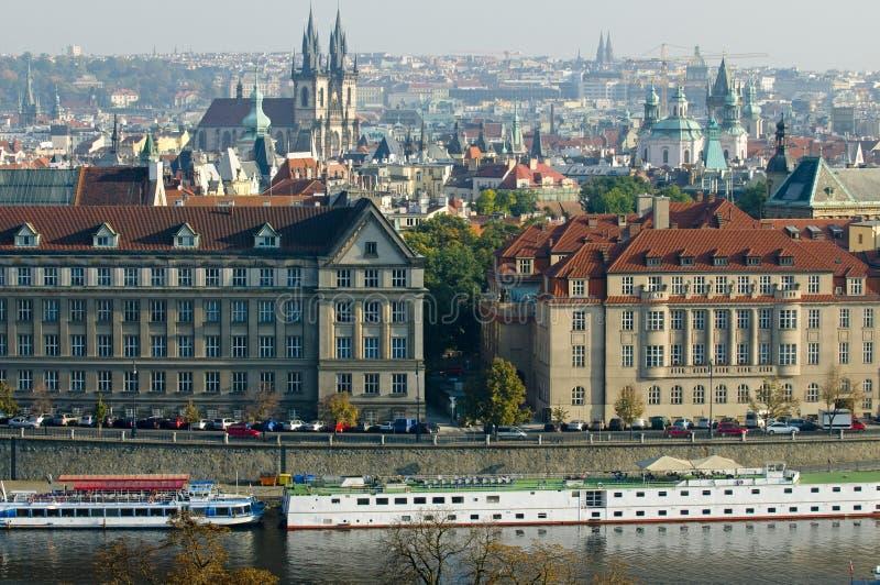 Ogólny widok Praga fotografia royalty free