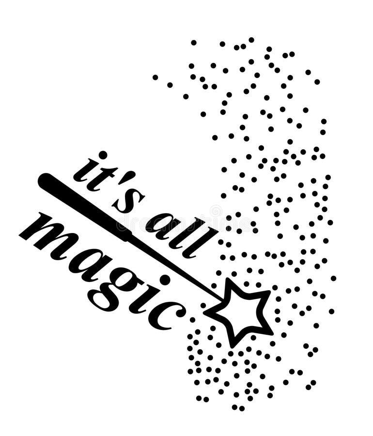 To jest wszystkie magiczny różdżki magii wektor ilustracji