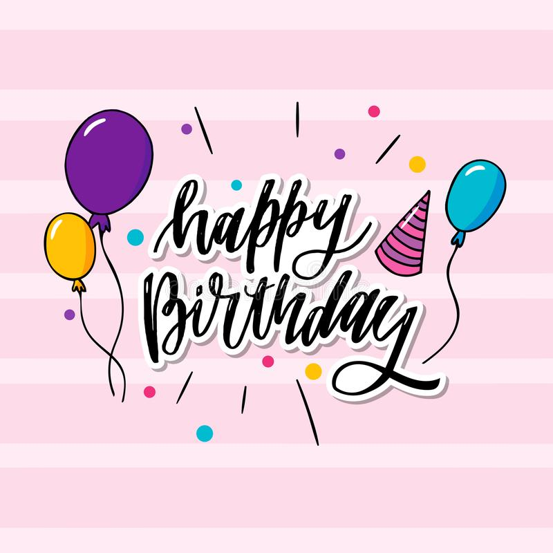 to jest wszystkiego najlepszego z okazji urodzin typografia który jest może stosować tapeta, karta, urodzinowa karta także ilustracji