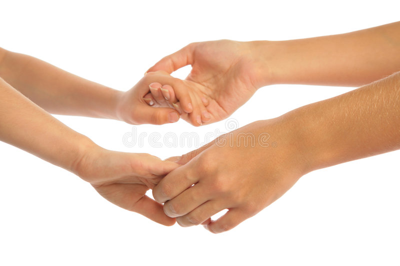 To keep for hands, mother and child royalty free stock photography