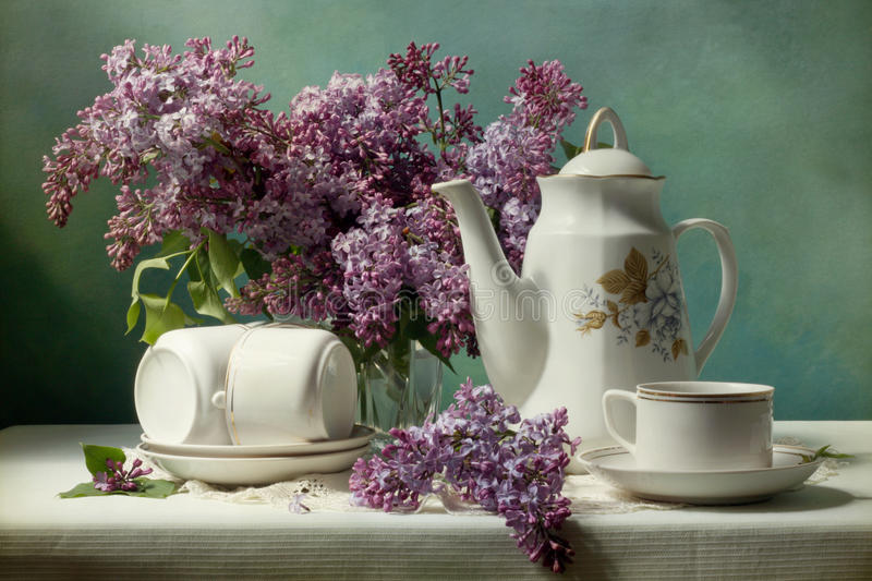 Download To lay the table stock photo. Image of spring, table, nosegay - 9428564