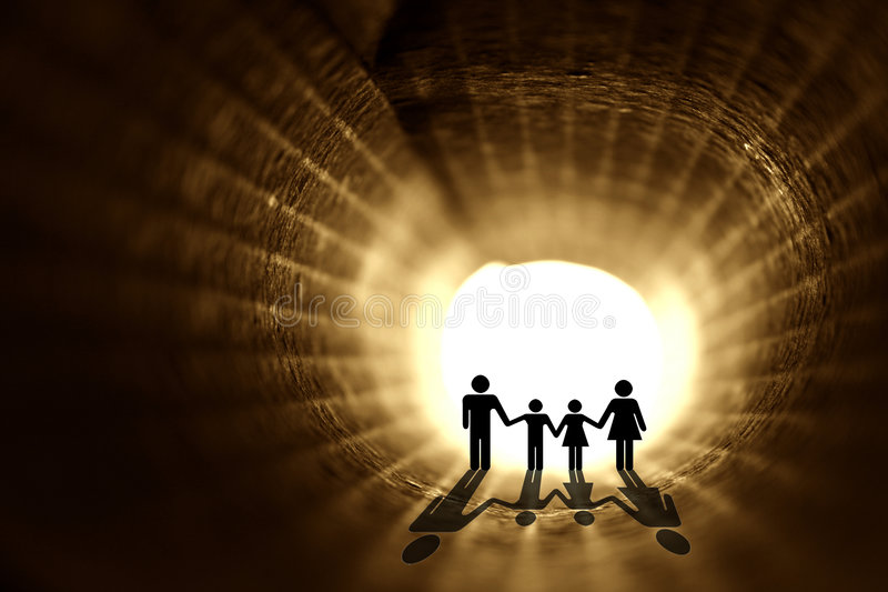 In to the light royalty free illustration