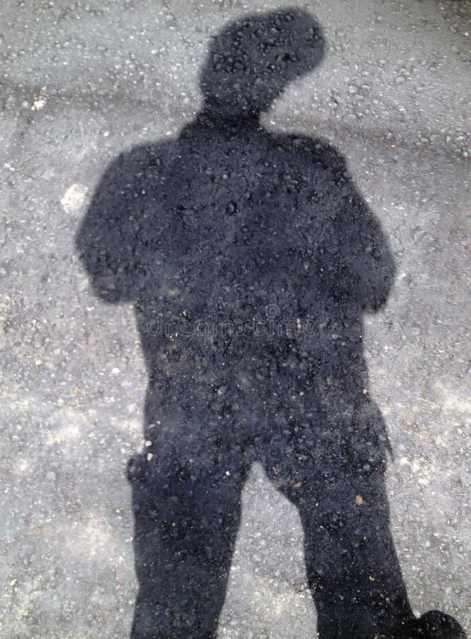 to mój cień zdjęcie stock
