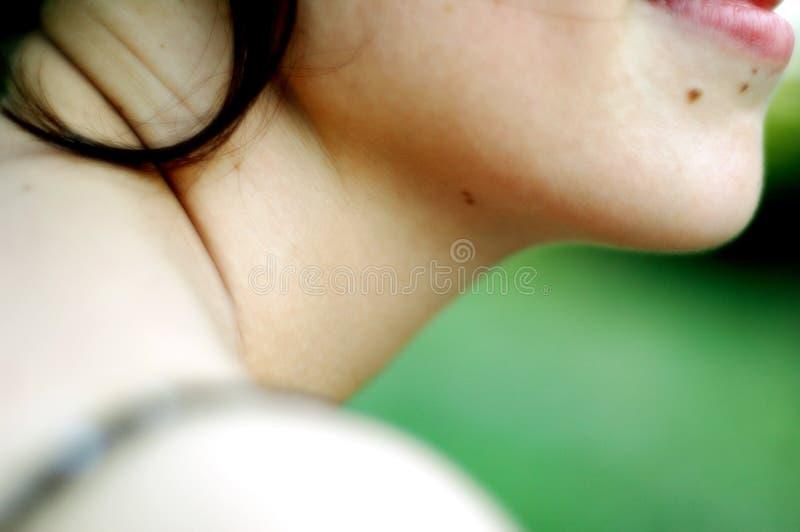 to młode kobiety chin obraz stock