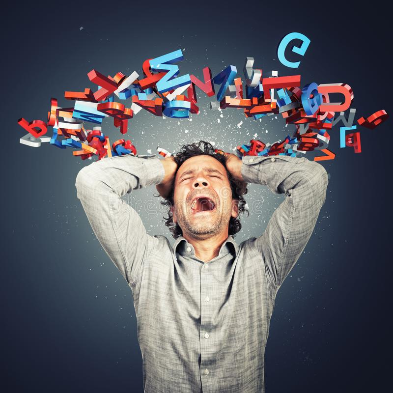 To many things in my mind stock images