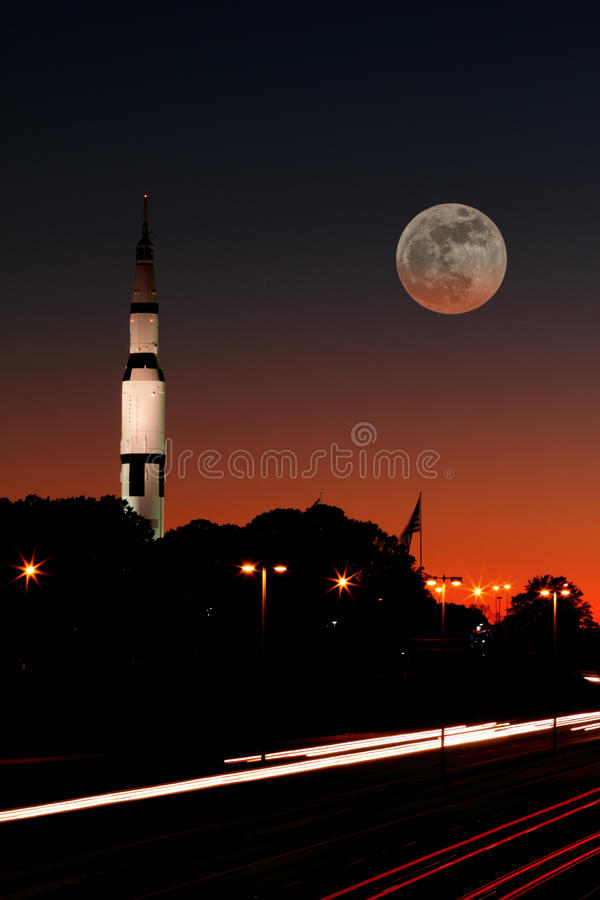 To the moon stock images