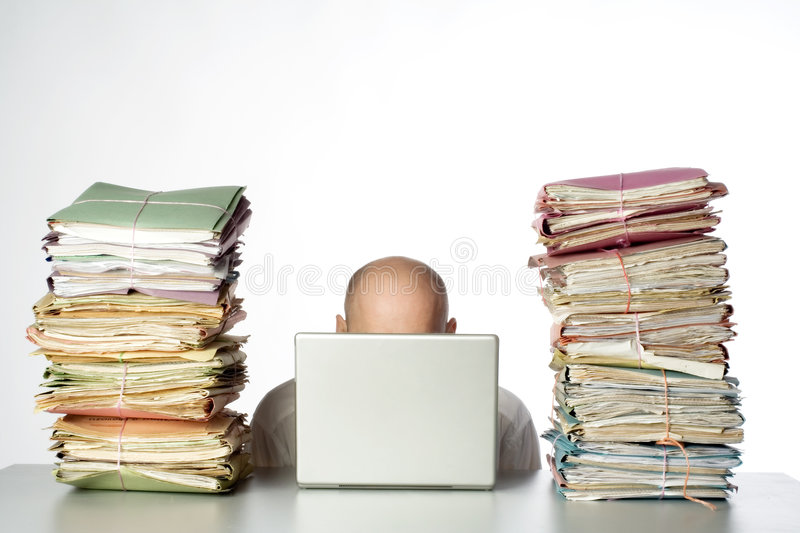 To much work royalty free stock images