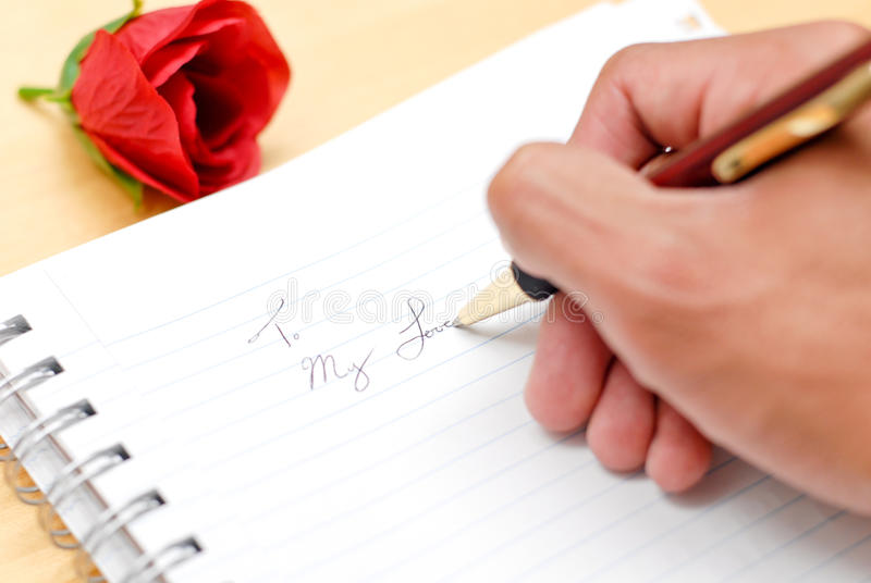 To My Love. (Journal Entry stock images