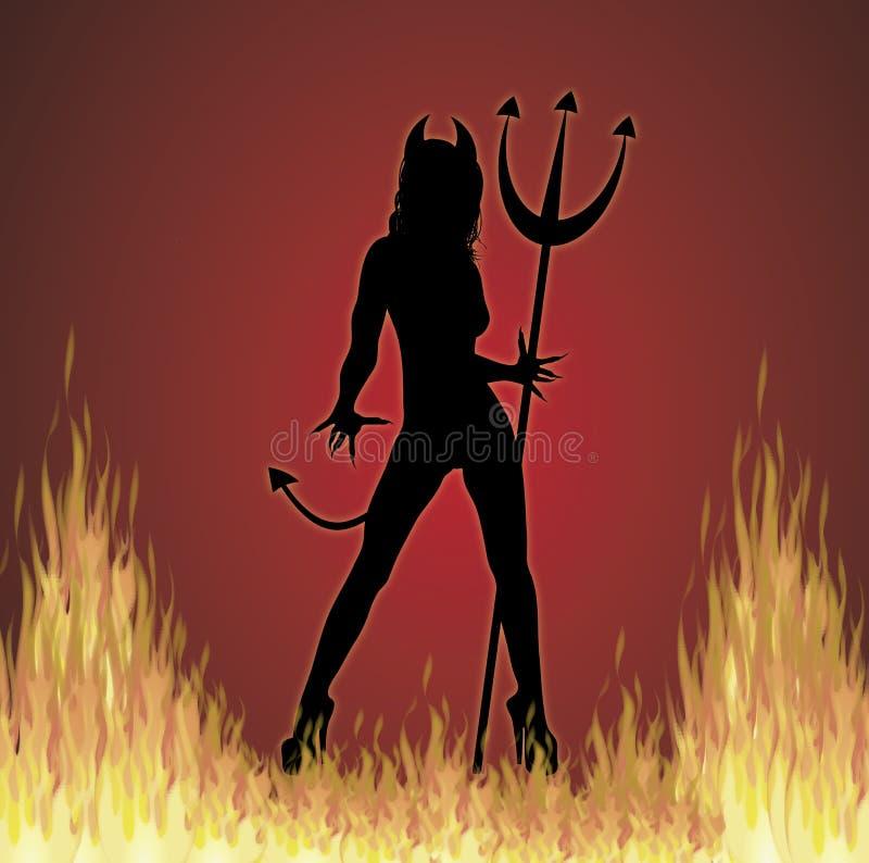 to ogień piekielny royalty ilustracja