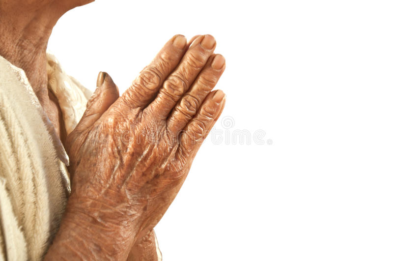 To pay respect white background stock images