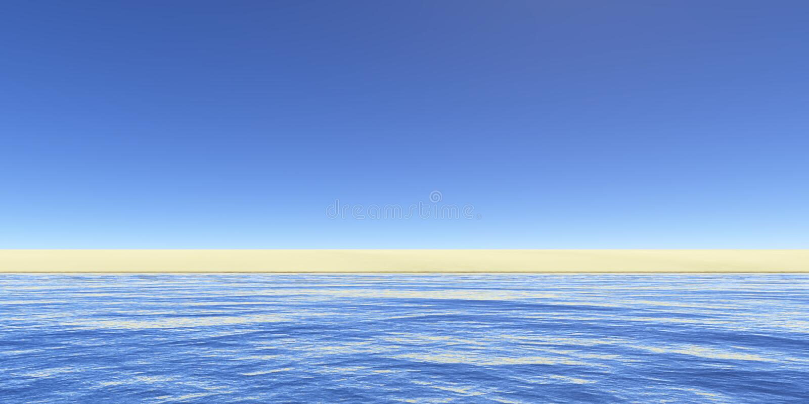 Download To the perfect beach stock illustration. Image of water - 579426