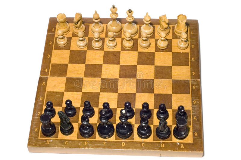 To play chess stock photography