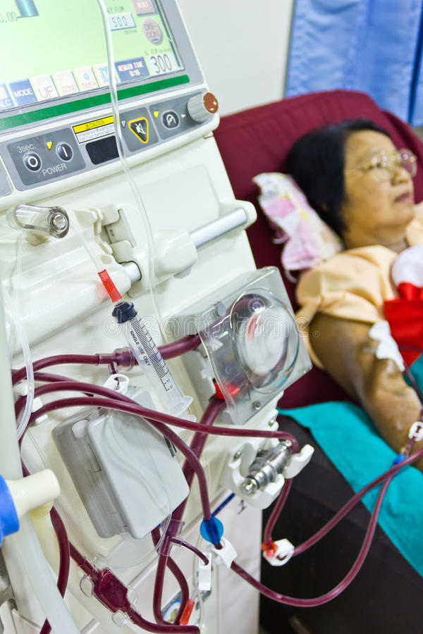 To purify the blood with artificial kidney stock images