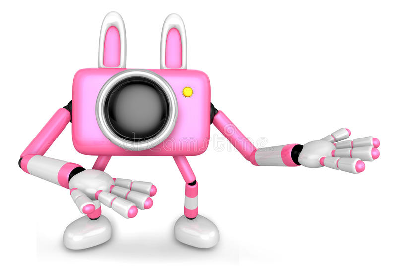 Download To The Right Toward The Pink Camera Character Guide You. Create Stock Illustration - Illustration: 29486435
