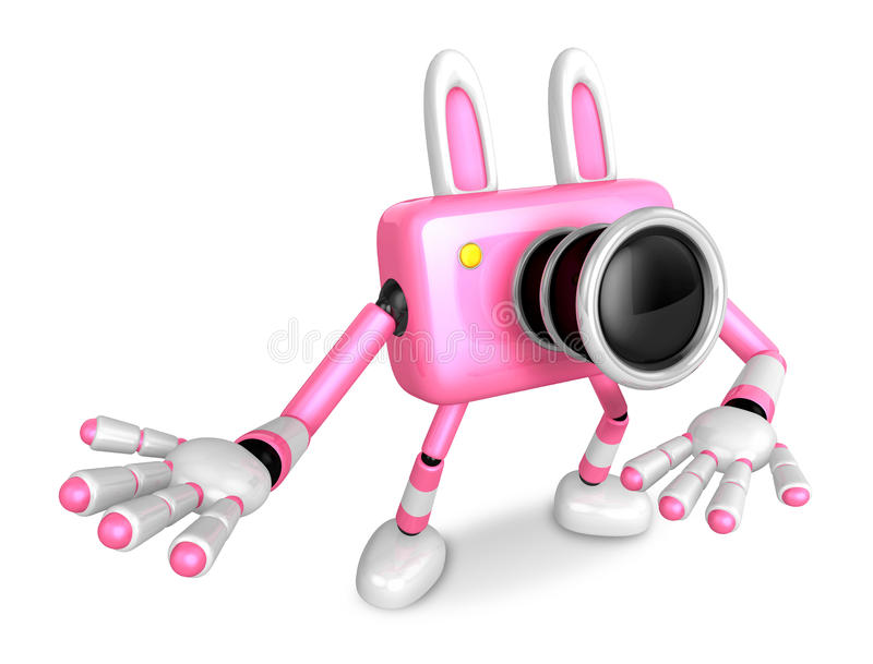 Download To The Right Toward The Pink Camera Character Guide You. Create Stock Illustration - Image: 33614500