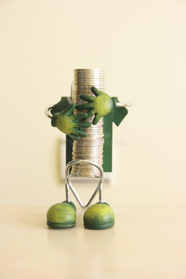 To save money 1. A photo which symbolizes saving money royalty free stock photos